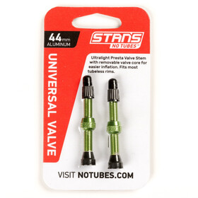 NoTubes Universal Tubeless Valve Presta Aluminium 44mm green